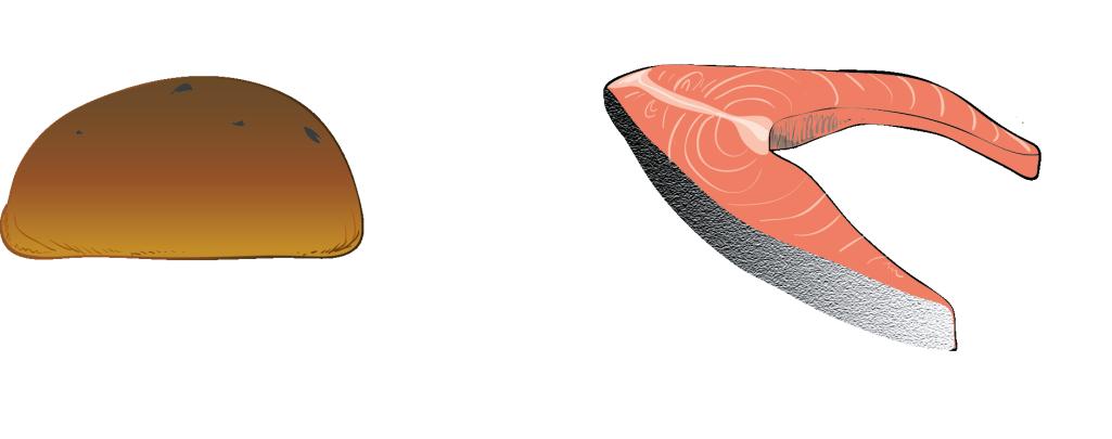 Hva er likheten mellom en rosinbolle og en laksekotelett?
