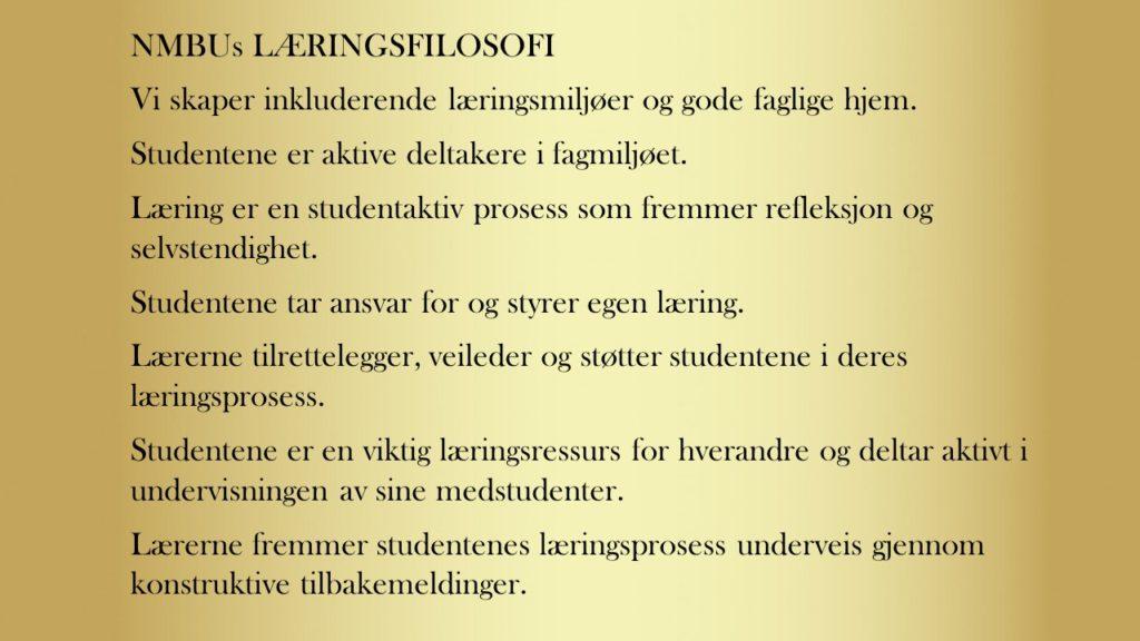 NMBUs Læringsfilosofi