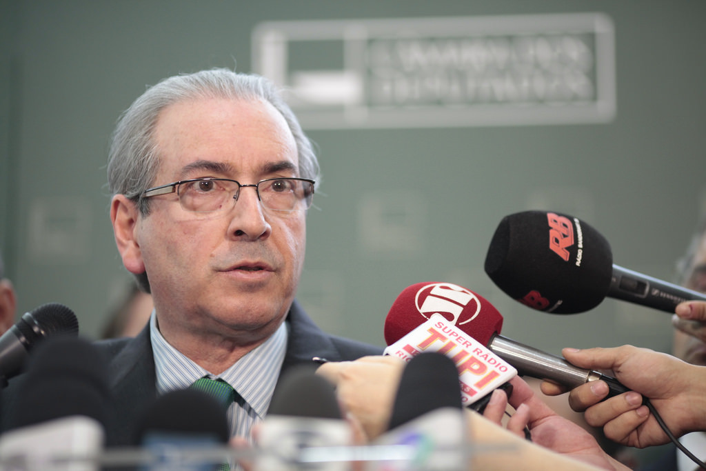 Eduado Cunha, President of the Lower House of Congress, leading the impeachment process. Photo: Creative Commons